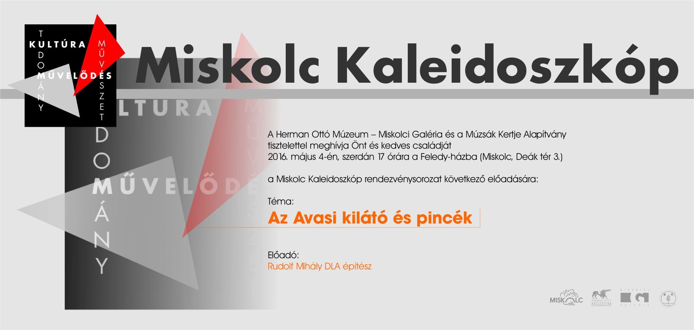 A sorozat ebben a félévben Miskolc épített örökségéből válogat a379cb8197